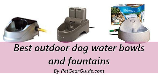 Best outdoor dog water bowls and fountains