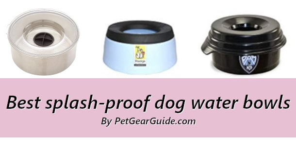 Best splash-proof dog water bowls