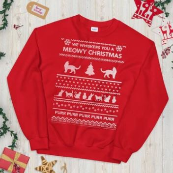 CatCaveCo Christmas Sweaters